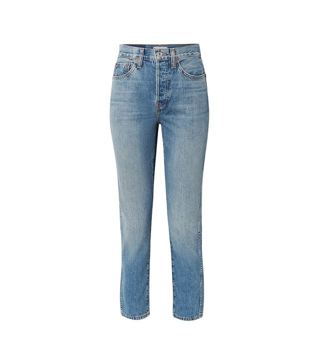 Originals Double Needle Crop High-rise Tapered Jeans