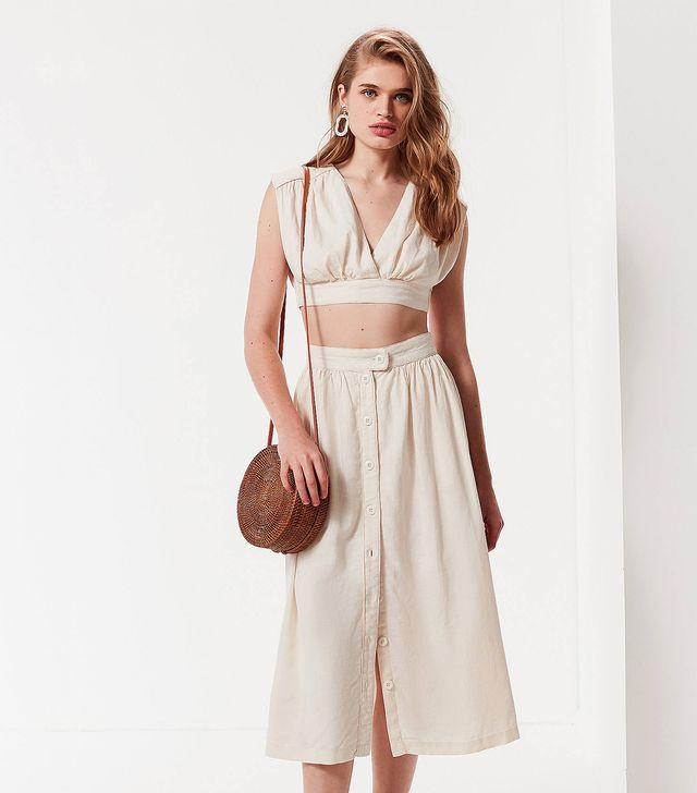 UO Arianna Cut-Out Cropped Top