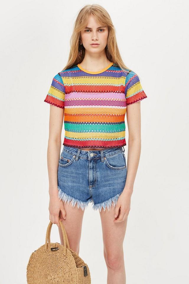 Bright Crochet T-Shirt