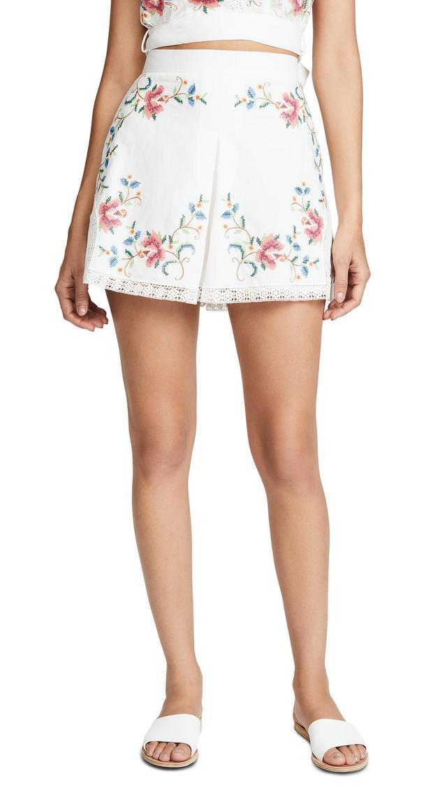 Laelia Cross Stitch Shorts