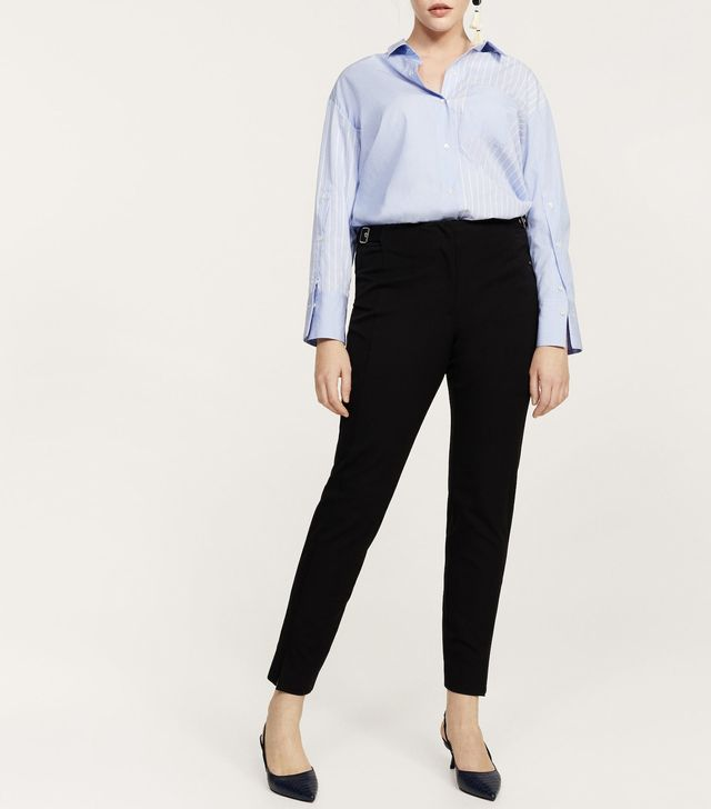 Decorative buckle trousers