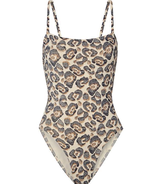 Les Essentiels Aquarelle Leopard-print Swimsuit