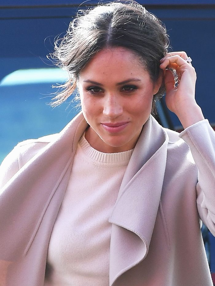 Meghan Markle Just Wore a Logo Belt Youll Love as Much as Guccis