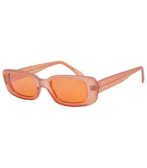 Squared Orange Lens Sunglasses