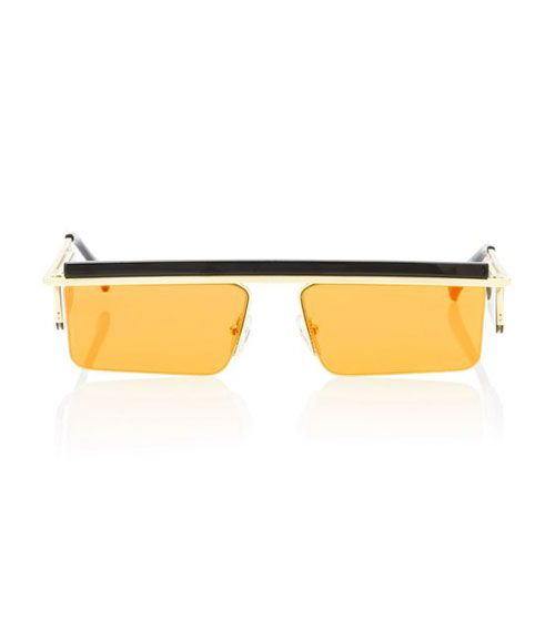 The Flex Square-Frame Orange Lens Sunglasses