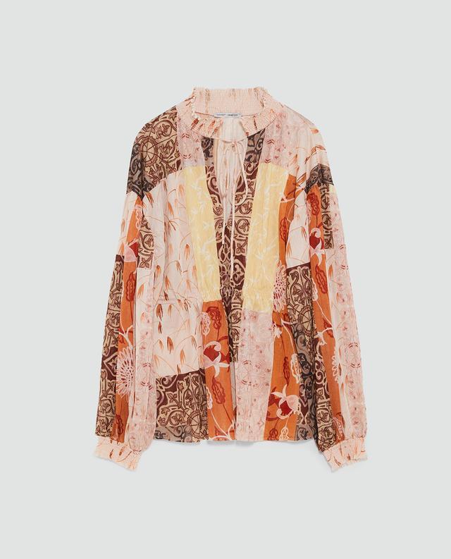 Zara Print Blouse