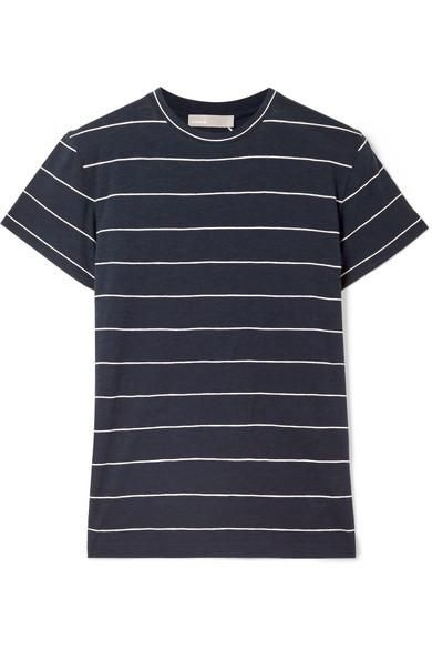 Striped Pima Cotton-jersey T-shirt