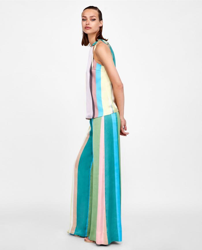93363075 Pinterest · Shop · Zara Striped Palazzo ...