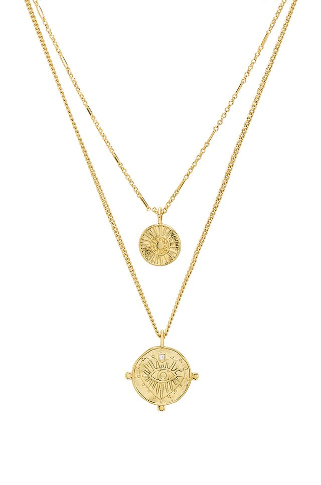 Luv AJ The Double Coin M Necklace