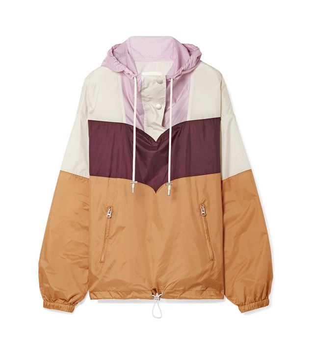 Cyriel Color-block Shell Hooded Top