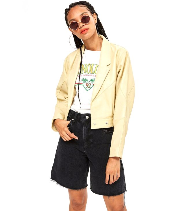 Longline Denim Shorts