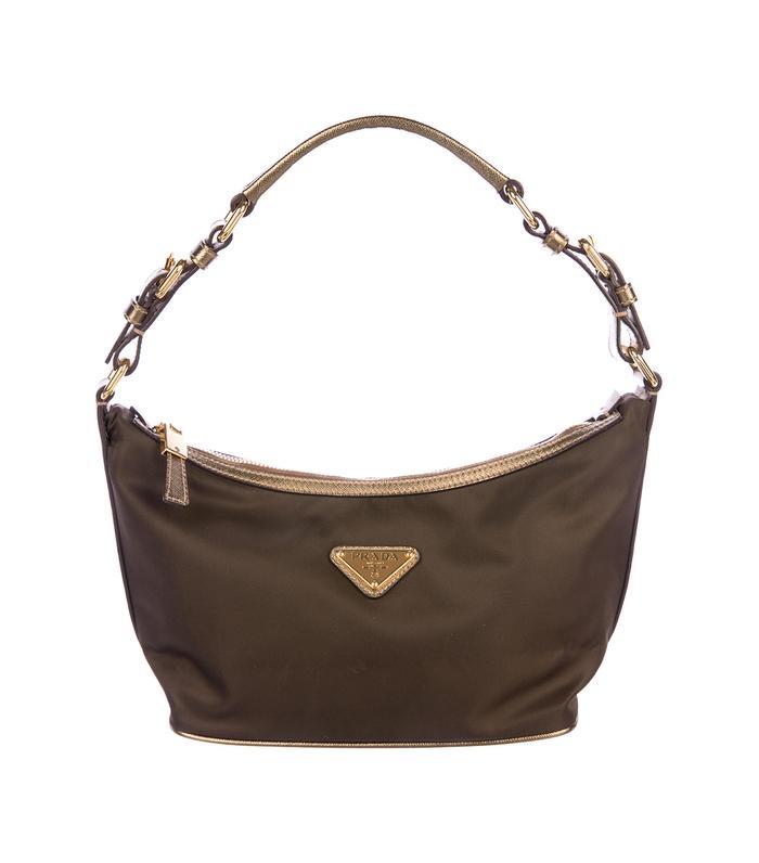 5b05a1d4e04e Prada Vela Semitracolla Shoulder Black Nylon Leather Shoulder Hobo Bag  ($138) · Pinterest