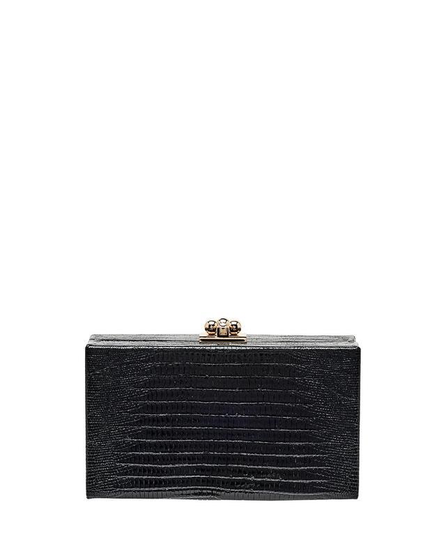 Jean Lizard Framed Box Clutch Bag