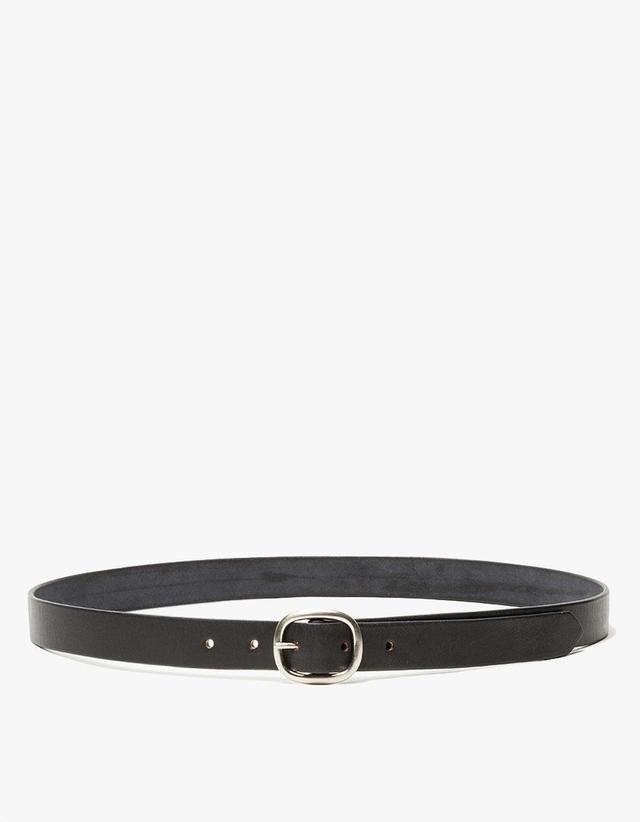 Slim Oval Belt in Black