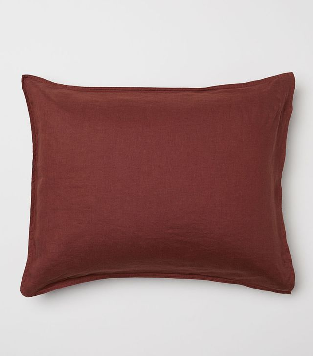 - Washed Linen Pillowcase - Rust - H & m Home