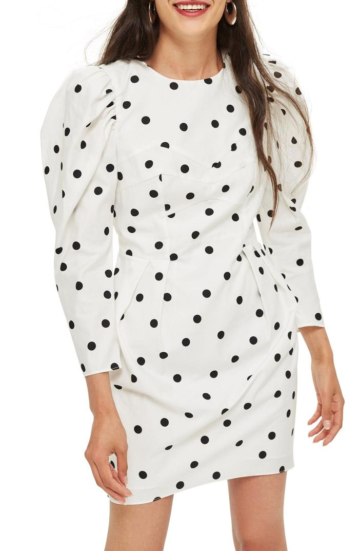 Topshop S Polka Dot Dress Is Back In Stock Who What Wear