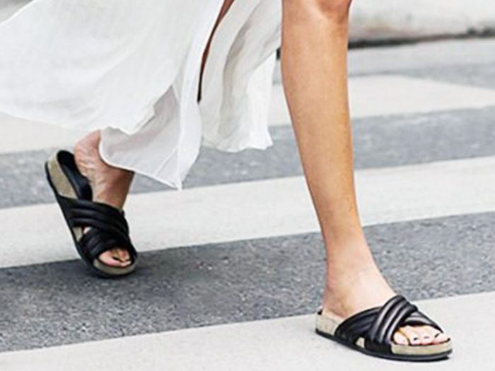 summer s most comfortable and stylish slide sandals who what wear