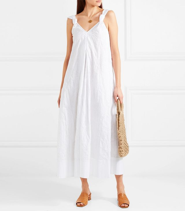 Denali Embroidered Cotton Maxi Dress