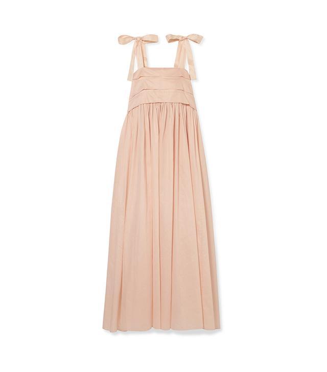 Hortense Silk-trimmed Cotton-voile Maxi Dress
