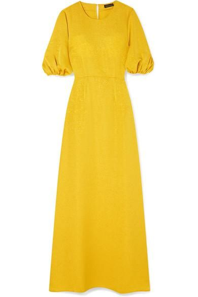 Delia Ribbed Jersey Maxi Dress