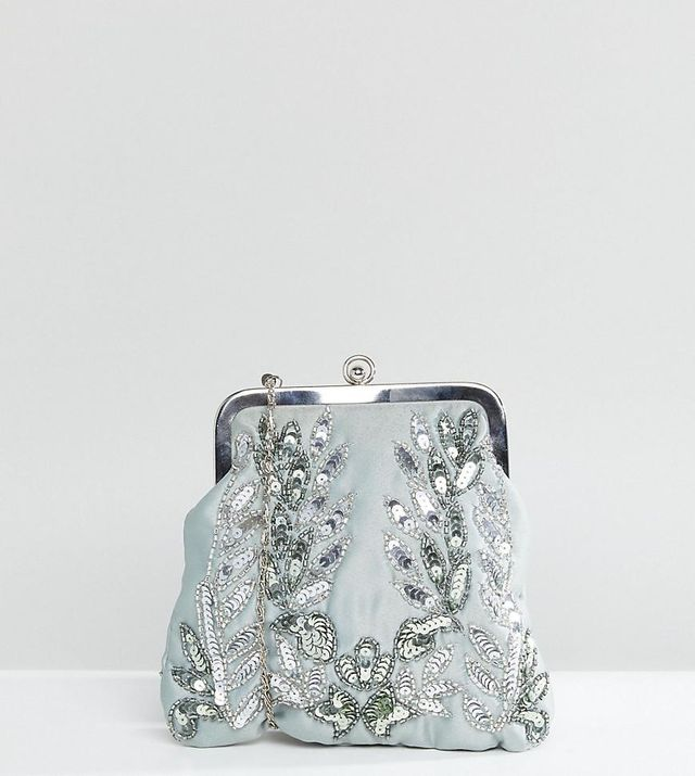 Allover Sequin Embroidered Clutch Bag