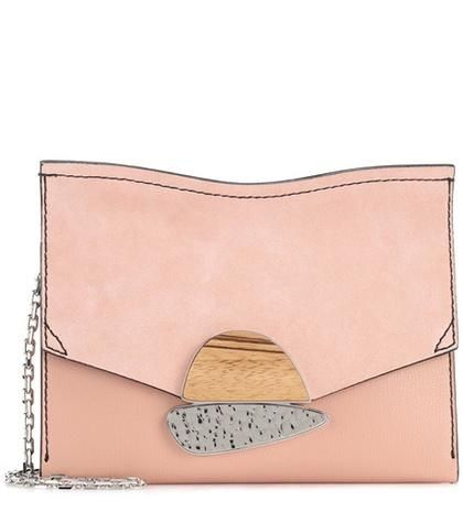 Medium Curl suede clutch