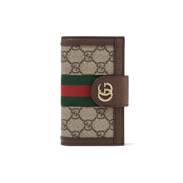 Gucci Leather and Chain-Trimmed iPhone Case