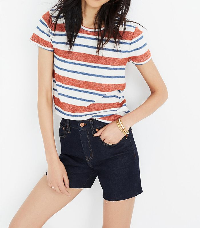 5bf0d57995 Taylor Swift Wore Madewell Denim Shorts