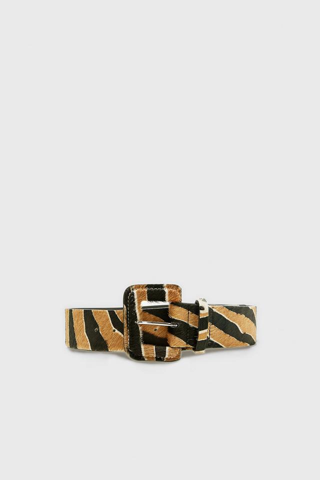 Zara Animal Print Leather Belt