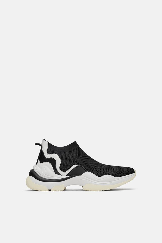 Zara Thick-Soled Sock Sneakers