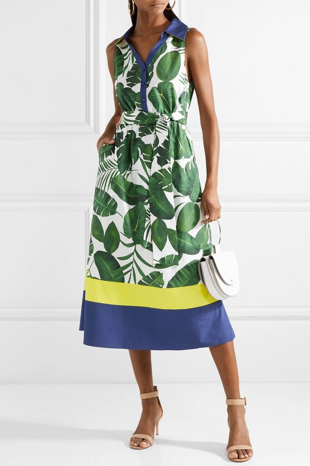 Margot Printed Cotton-poplin Dress