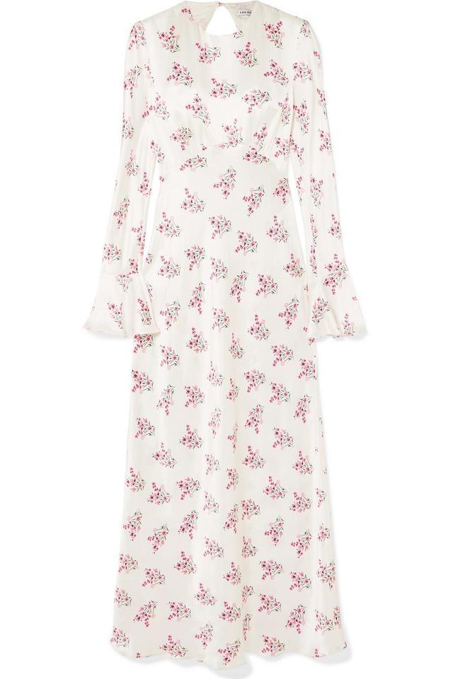Les Rêveries Floral-Print Silk-Satin Maxi Dress