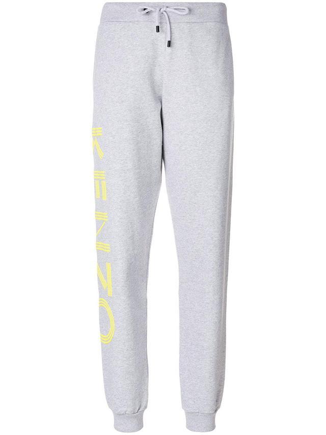 logo print track pants