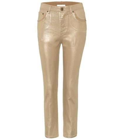 Exclusive to mytheresa.com – metallic cropped jeans