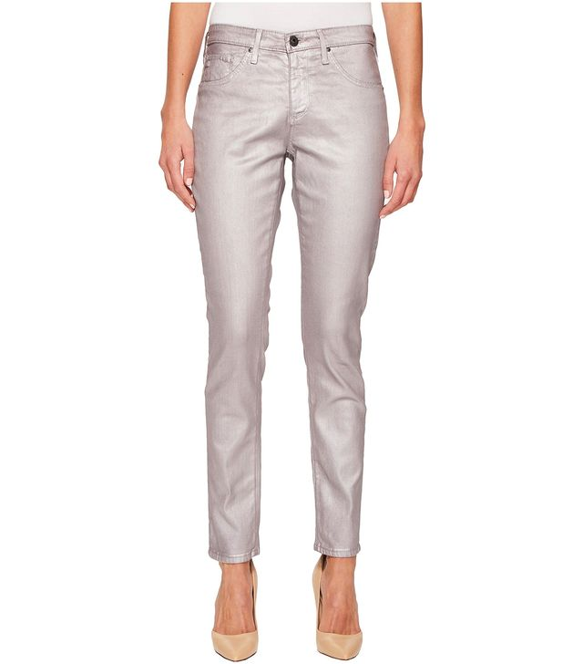 AG Legging Ankle Jeans in Metalized Powder Pink