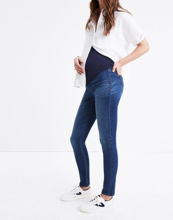 Tencel Skinny Designer Maternity Jeans