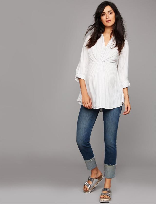 Cuffed Designer Maternity Jeans
