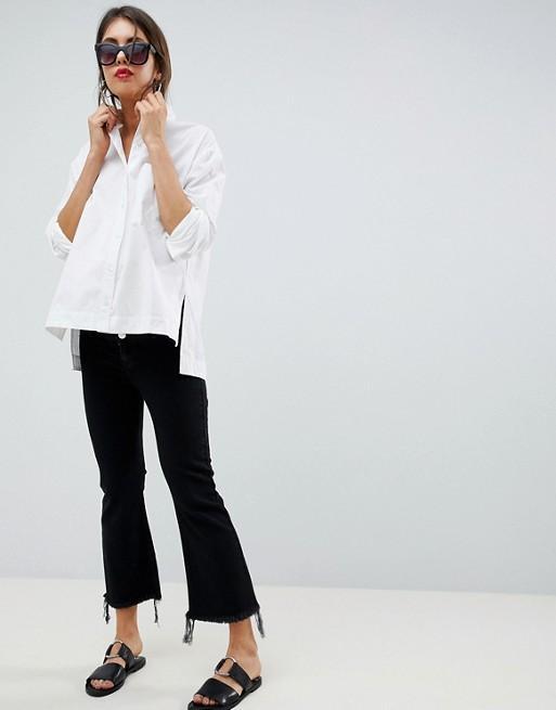 ASOS Maternity Egerton Rigid Cropped Flare Jeans