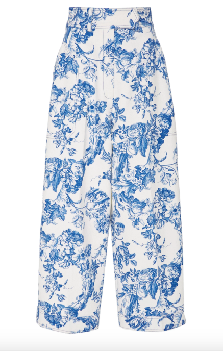 Floral Cropped Trouser