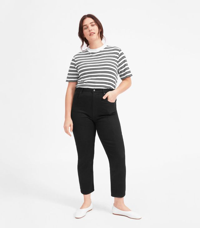 Women's Cheeky Straight Jean (Ankle) by Everlane in Black, Size 33