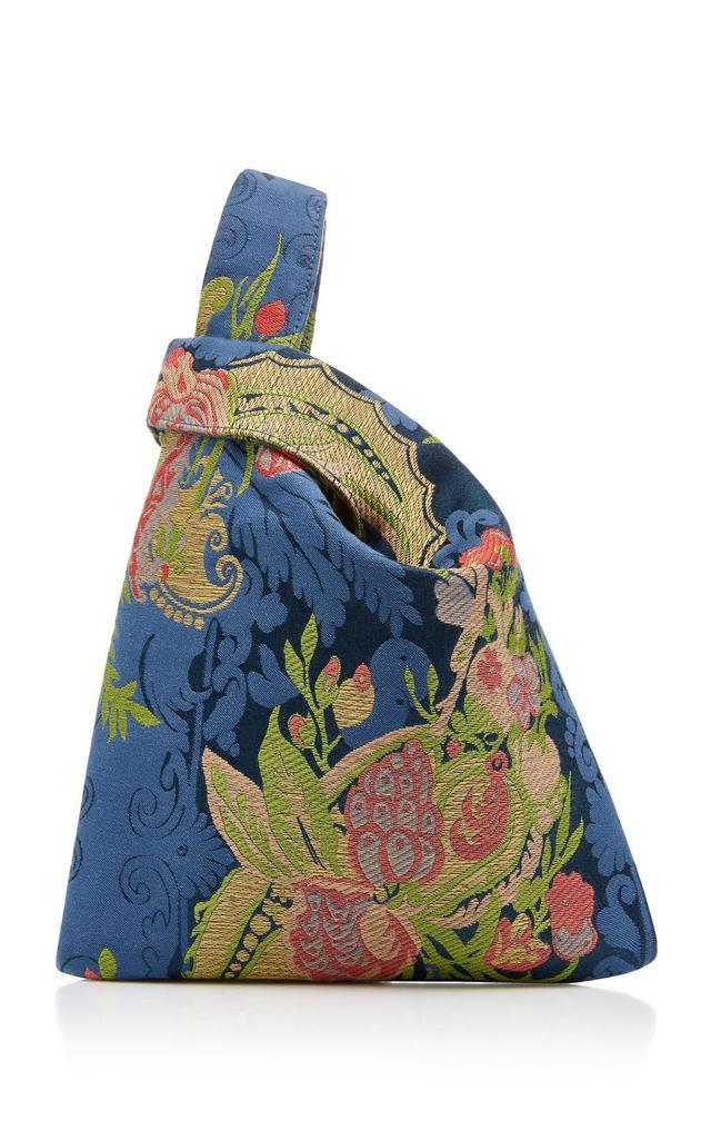 Floral Silk Jacquard Mini Shopper Bag