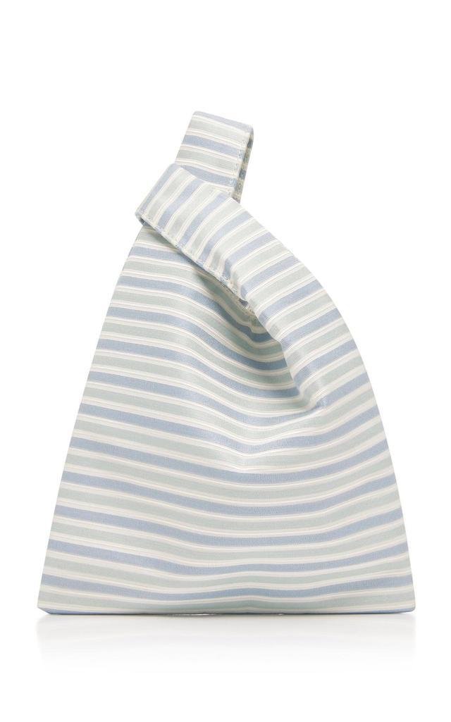Striped Silk Mini Shopper
