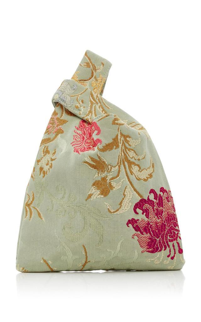 Mini Venetian Silk-Jacquard Shopper Tote