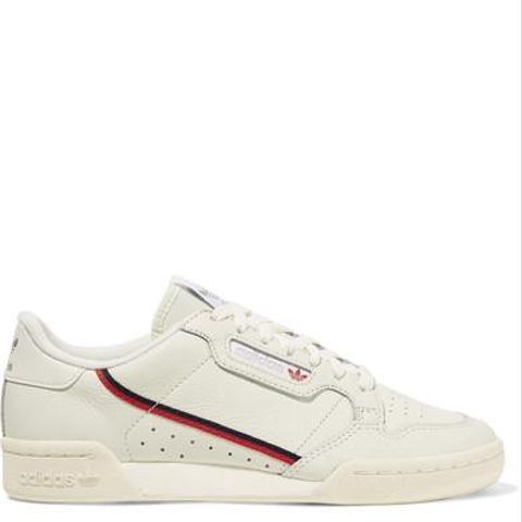 Continental 80 Grosgrain-Trimmed Leather Sneakers