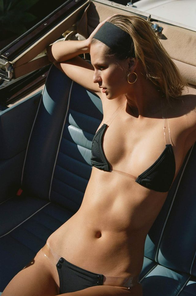 Girls on Swim Bare Strappy Bikini in Black