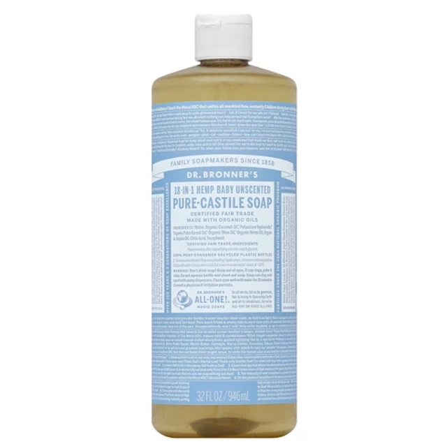 Dr. Bronner's Unscented Pure Castile Soap
