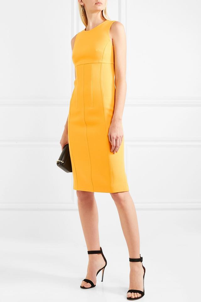 Wool-blend Crepe Dress