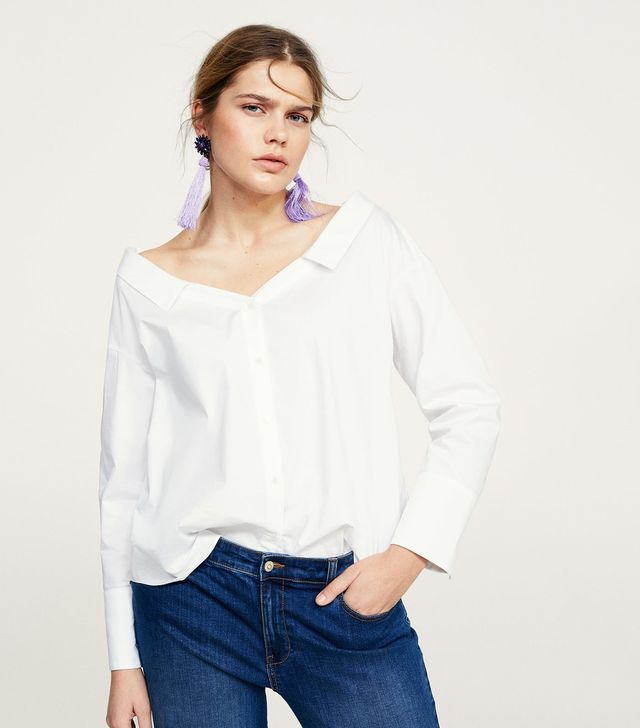 Flowy off-shoulder blouse