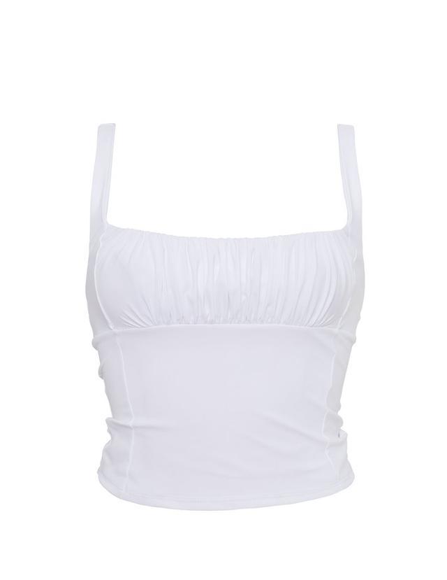 Roxana Salehoun Swimwear Shirr Tankini Top