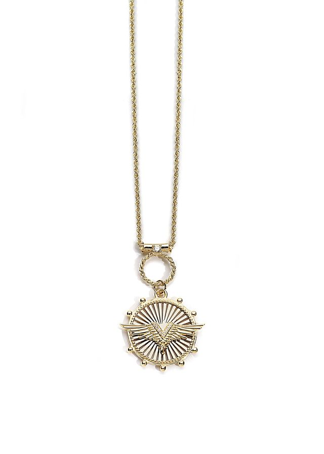 Foundrae Dotted Wings Medallion